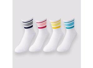Yonex Crew sock mid SS9100 EX wit/roze