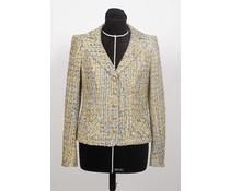 Geel – blauw tweed jasje