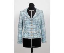 Blauw – grijs tweed jasje