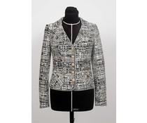 Zwart – wit tweed jasje