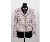 Roze – grijs tweed jasje