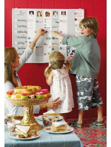 Hét planbord voor het jonge gezin