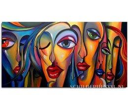 Abstracte gezichten