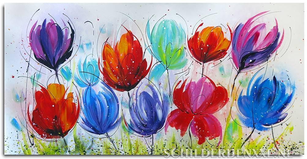 Geliefde Genoeg Bloemen Schilderen Abstract AR17 | Belbin.Info &TG41