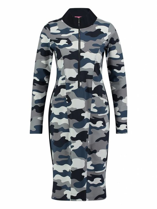 Birdy camouflage donkerblauw