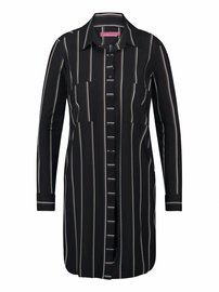 Woopy verticaal zwart khaki | Stripe