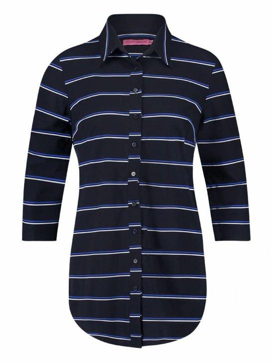 Poppy tommy blouse - donkerblauw   kobalt
