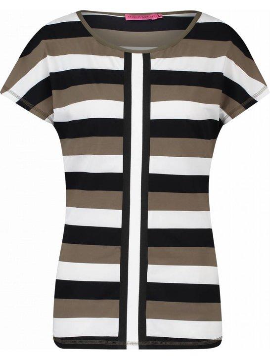 Skater 3 stripe - zwart | khaki