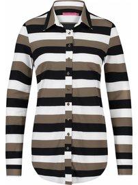 Poppy 3 stripe | zwart - khaki