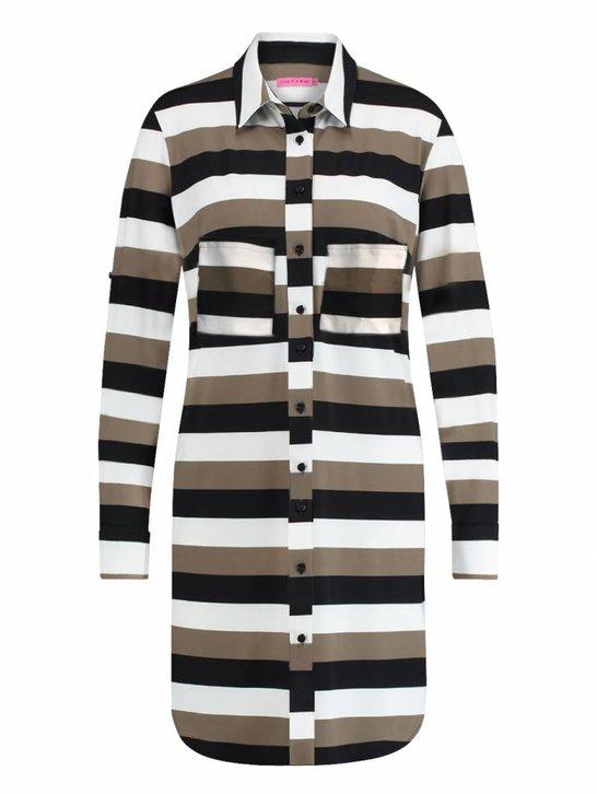 Woopy 3 stripe   zwart khaki