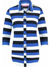 Poppy 3 stripe | donkerblauw - kobalt