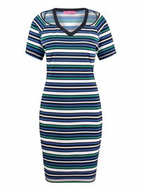 Honey dress kobalt emerald | stripe
