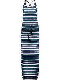 Tess dress stripe | Kobalt  emerald