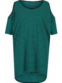 Demi emerald stripe dress