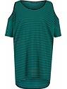 Demi emerald stripe dress