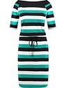 BB emerald stripe dress