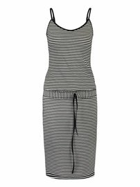 Tilly viscose stripe | Black - Off white