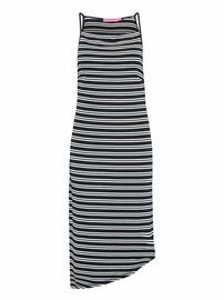 Sunshine dress stripe | Dark blue - Off white