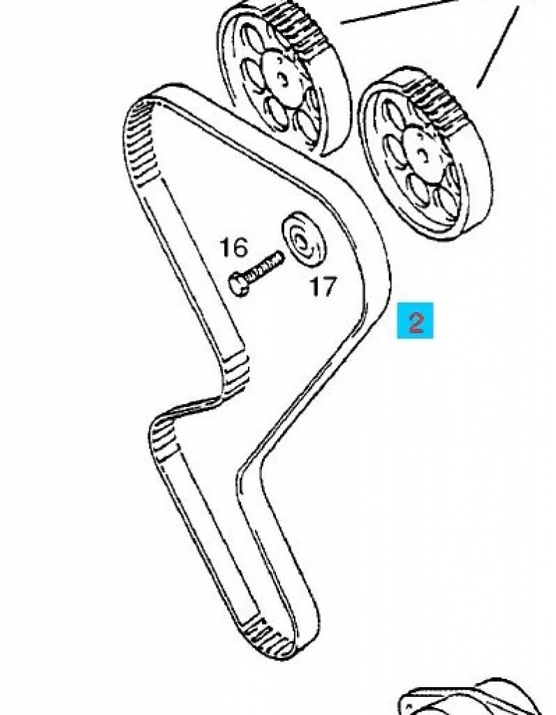 belt timing opel astra-f calibra kadett-e vectra-a 20xe c20xe c20let