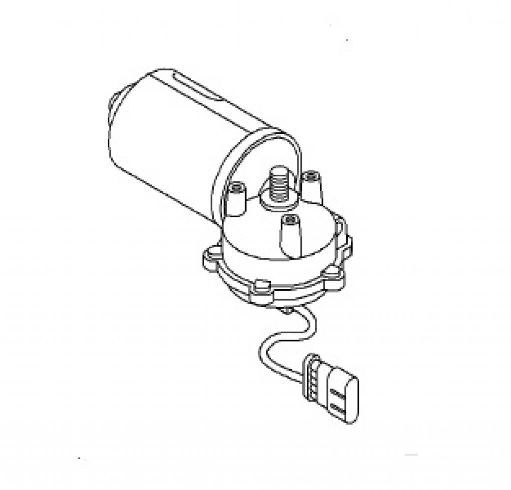 ruitenwissermotor voorzijde opel meriva-a