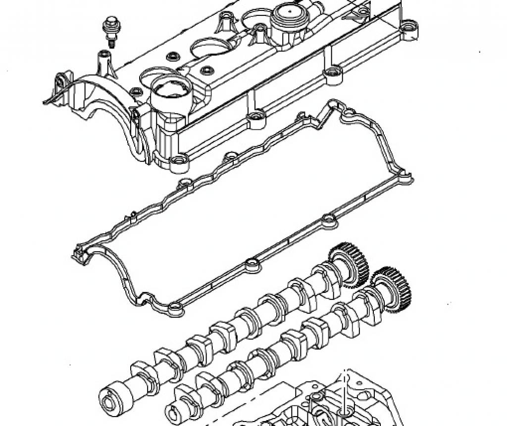 gasket camshaft cover a17dt a17dtc a17dte a17dtf a17dti