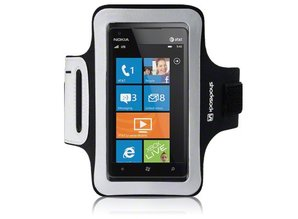 Shocksock Sport Armband voor Nokia Lumia 900 - Zwart
