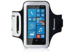 Shocksock Sport Armband voor Nokia Lumia 620 - Zwart