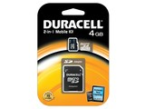 Duracell 4GB microSDHC Class 4 Card + SD Adapter