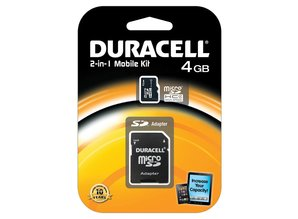Duracell 4GB microSDHC Class 4 Card + SD Adapter