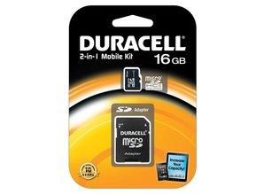 Duracell 16GB microSDHC Class 4 Card + SD Adapter