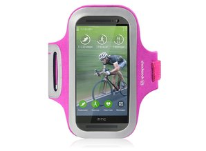 Shocksock Sport Armband voor HTC One M8 (2014) - Roze