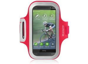 Shocksock Sport Armband voor HTC One M8 (2014) - Rood