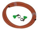 Gimeg Gasslangset incl 2 slangklemmen (rubber)