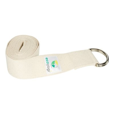Ecoyogi Yoga strap organic cotton natural