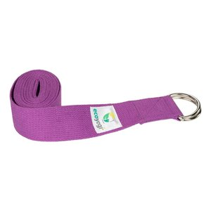Ecoyogi Yoga strap organic cotton Lavender