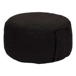 Meditatiekussen rond zwart