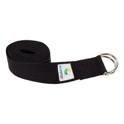 Ecoyogi Yoga strap organic cotton black