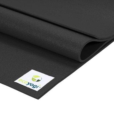 Ecoyogi Studio yogamat - Black 183 cm