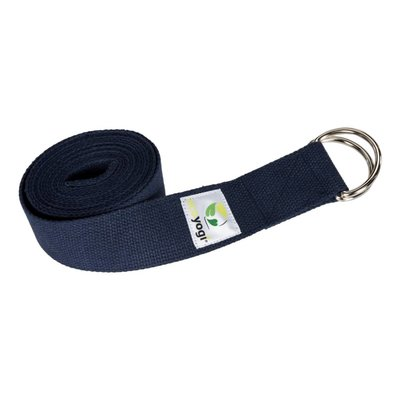Ecoyogi Yoga strap - Dark blue