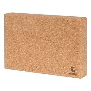 Ecoyogi Ecoyogi yoga block cork flat