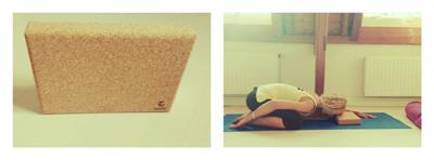 Yoga blok gebruiken