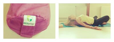 Gebruik Yoga bolster