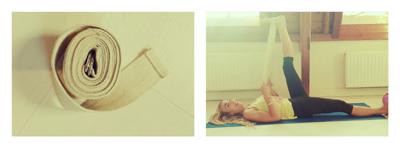 Yoga riem gebruiken