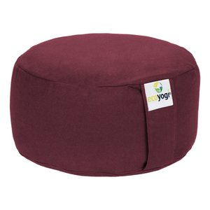 Ecoyogi Meditation cushion Round Eggplant 100% biological cotton
