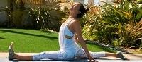 Yoga mat en yoga sokken