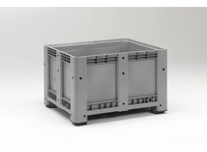 Palletbox 610 liter op 4 poten, grijs