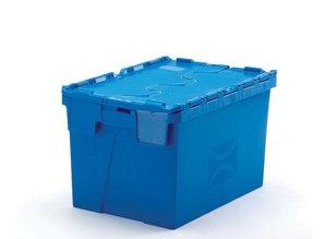 Distributiebak 54 liter incl. etiketvenster, blauw