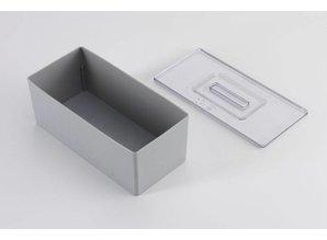 Inzetbak oplegdeksel 1/3 van 400x300 mm, transparant