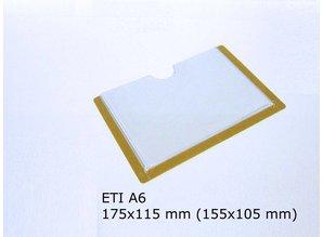 Zelfklevende etikethouder, transparant 155x105 zelfklevend