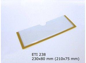 Zelfklevende etikethouder, transparant 230x80 zelfklevend